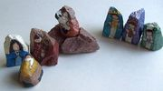 Nativity Scene Figures Painted on Small Rocks