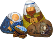 Unique Painted Rock Nativity Sets