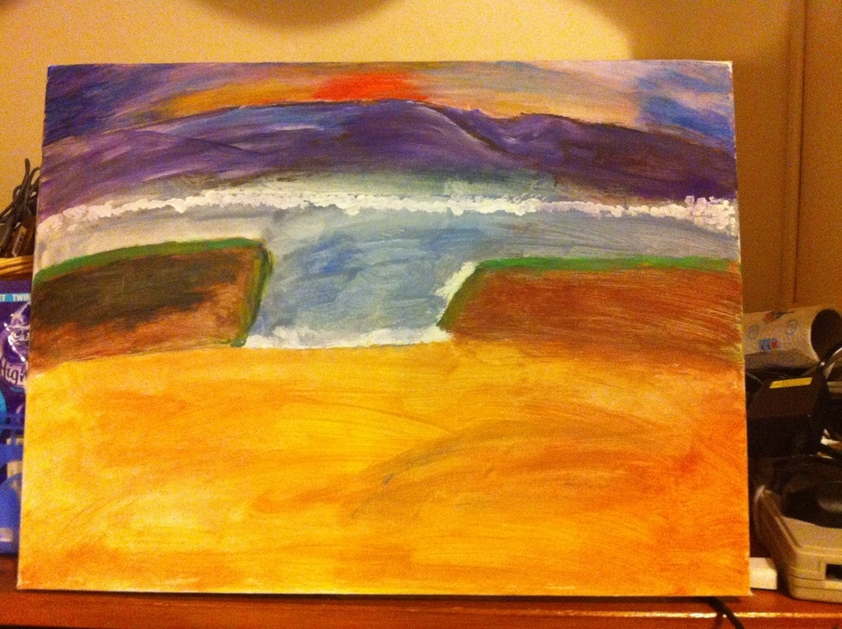 Updated Seascape At Sunset
