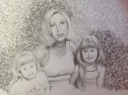 Portrait of our mum and myself (right) and my sister, our mum died at 50 years of breast cancer