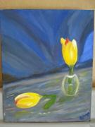 Tulips in oil