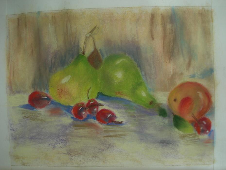 Fruit Still LIfe in Pastel