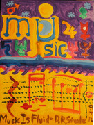 Acrylic Painting No. 54 - 'Music is Fluid' - D.R.Steele 9-7-14 025 Cropped