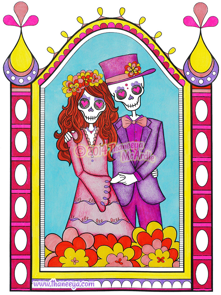 Day of the Dead Skeletons in Love by Thaneeya McArdle