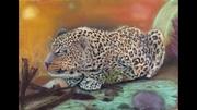 Leopard at dusk..