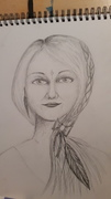 Sketch for moon goddess