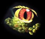 dinosaur eye acrylics