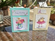 hand made watercolour cards