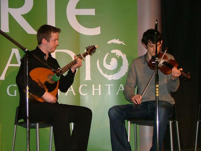 Dónal McCague with Ryan O'Donnell