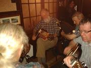 Uilleann Pipes & Nyckelharpa in Tom's, Ballycastle.