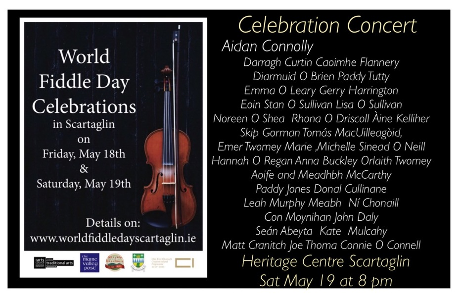 World Fiddle Day Concert at Scartaglin