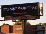 "Rockford, Illinois ""It's Not Working"" digital billboard"