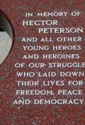 Hector Peterson inscription