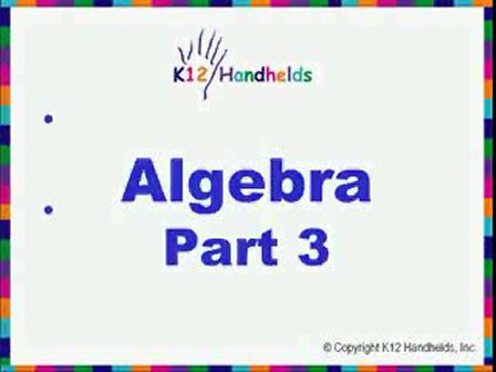 Algebra- Part 3