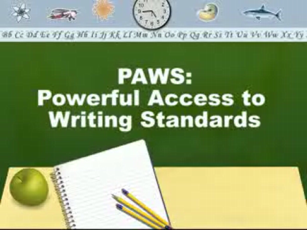 PAWS-Powerful Access to Writing Standards