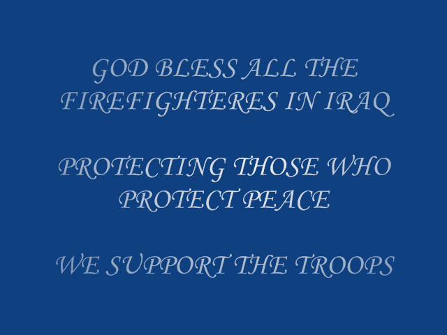 firefighter in iraq
