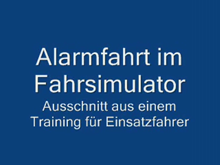 Driver Training in Simulator