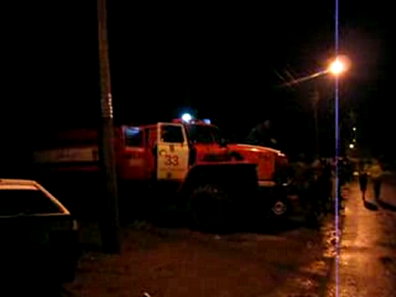 Siren of the Russian fire truck