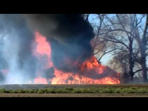 Fully Involved House Fire in Alabama
