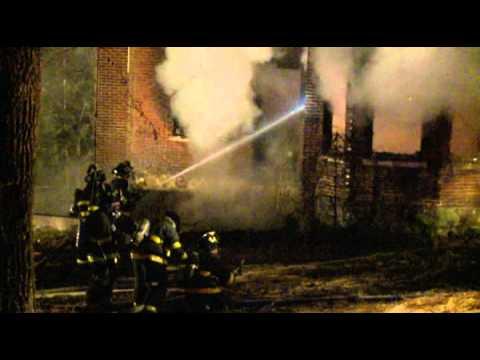 Vacant house burns in Bethlehem, PA