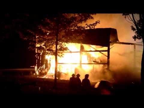 Darien FD 2 Alarm Barn Fire - 3105 County Line Rd