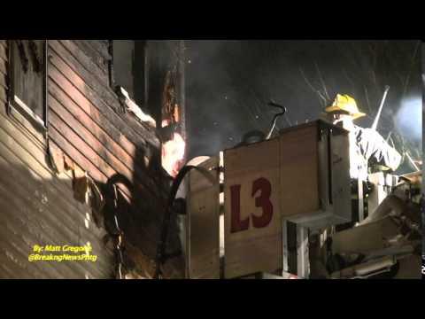 Worcester Frefighters Battle Three-Alarm Fire