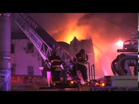 Newark, New Jersey Four-Alarm Fire
