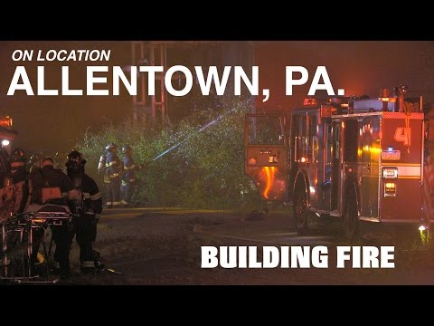 Fire in a vacant factory in Allentown, PA