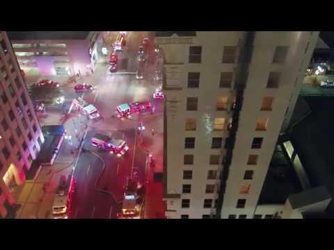 10 Story high rise fire - Shreveport Fire Department