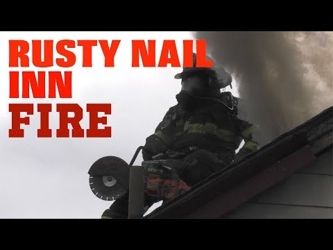 Working fire at the Rusty Nail Inn, Palmerton, Pennsylvania