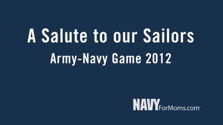 Part 3: A Salute To Our Sailors: Army-Navy Game 2012