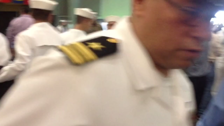 Retired Navy Lieutenant Commander attends sons boot camp graduation in his uniform. Priceless!