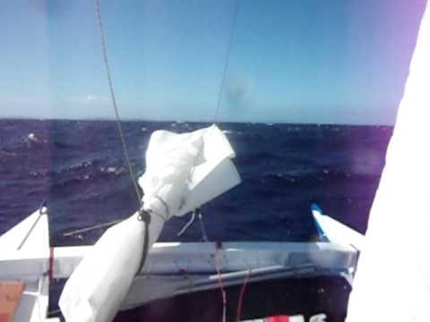 Tiki 21 in 30kn wind