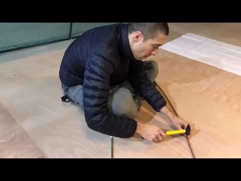 2017-12-30 - Drawing the lower bulkheads on the lofting floor - Wharram Tiki 38