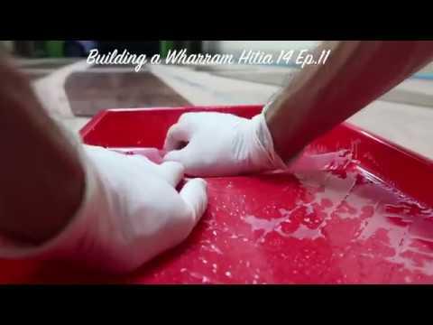 Early evening epoxy work - Wharram Hitia 14 Ep.11