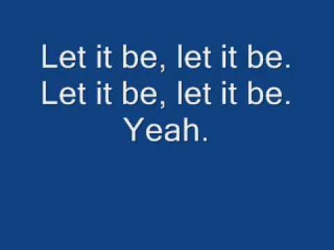 Beatles - Let It Be - Lyrics