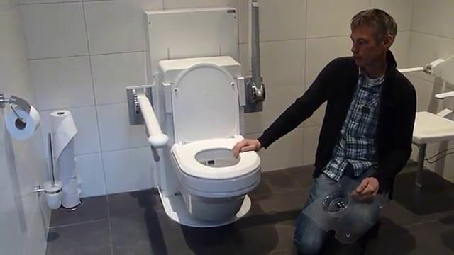 MCS In hoogte verstelbare spoel föhn toilet