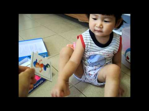 Kaopoon learning action words 1.7 years