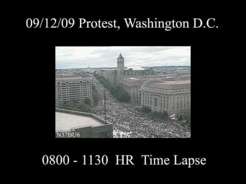 9/12 Protest Washington DC Time Lapse Footage 0800 - 1130
