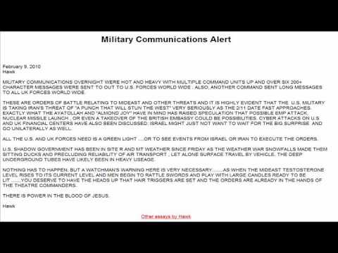 Steve Quayle: ALERT-MILITARY COMMUNICATIONS!