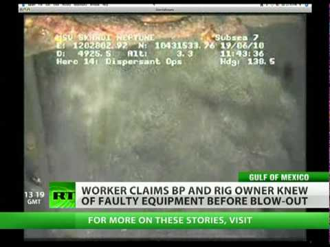 BP rig worker reported oil leak weeks before Deepwater Horizon disaster