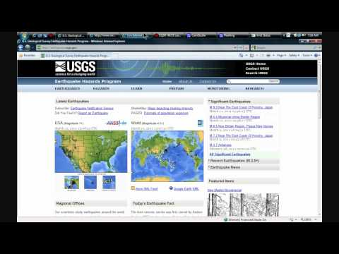 March 12, 2011 - Current assessment of Geologic Activity - Earthquakes / Volcanos / Radiation