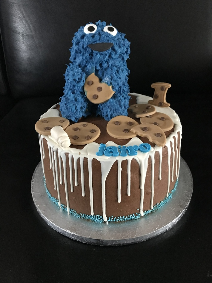 Cookie Monster taart