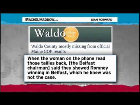 Rachel Maddow - Ron Paul Should Have Won Maine Caucus