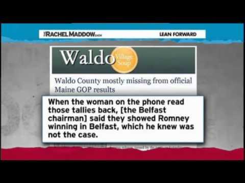 Rachel Maddow - Ron Paul Should Have Won Maine Caucus