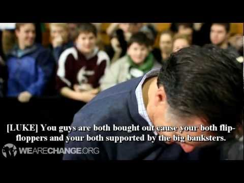 Mitt Romney Questioned on FED, Goldman Sachs, Luke Rudkowski kicked out
