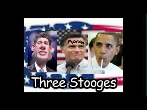 Three Stooges for the Banking Cabal: Paul Ryan - Obama - Romney