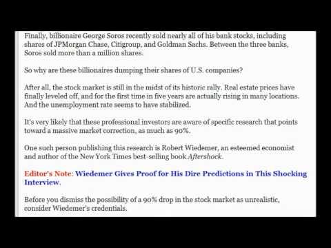 Billionaires Dumping Huge Amounts Of Stocks In Food, Pharmacy, Computer Parts, Banks etc.