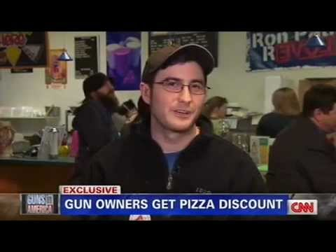Piers Morgan Debates Pizzeria Owner Jay Laze Over Offering Discounts to Gun Owners - Feb 26, 2013