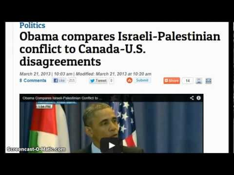 Obama compares Israeli-Palestinian conflict to Canada-U.S. disagreements. US Plans To Invade Canada